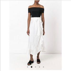 NEW • Isabel Marant • Alda Silk Ruffle Midi Skirt